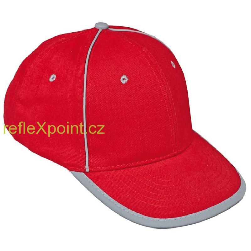 Kšiltovka červená - reflexní b2a11d193b